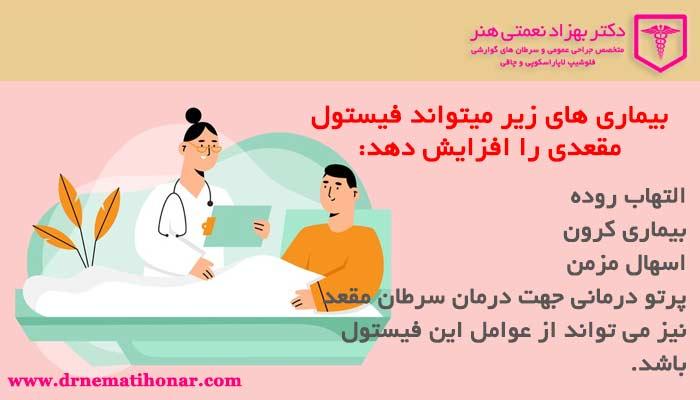بیماری هایی که امکان فیستول مقعدی را افزایش میدهد